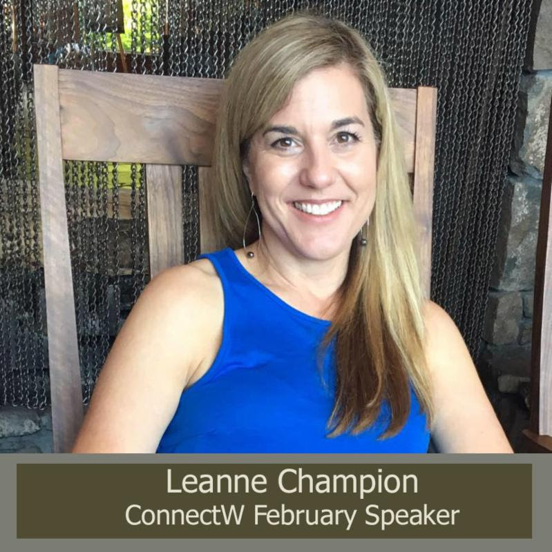 Leanne Champion ConnectW February Speaker