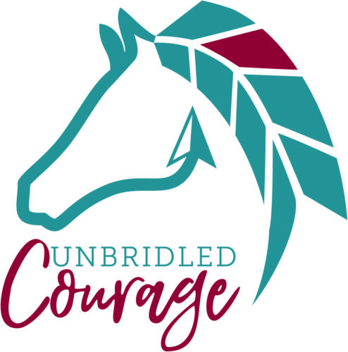 Unbridled Courage (blue_red) logo with text on white BG_FINAL 2